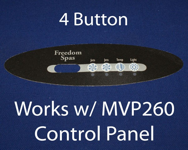 Freedom Spas MVP260 4-Button Decal (X509018)  NO LONGER AVAILABLE