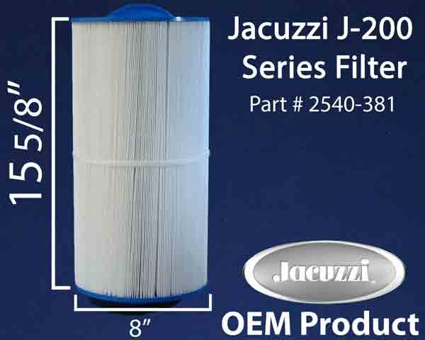 JACUZZI® J-200 Series Filter, 2540-381