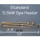 Spa Heater Element: Standard 5.5kW / 240v -or- 1.375kW if 120v