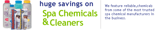 spa chemicals & cleaners